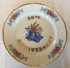 50th Wedding Golden Anniversary Commemorative Plate
