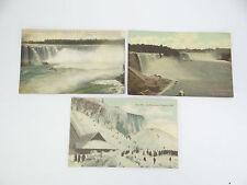 Vintage Unposted 908 Ice Mountain Niagara Falls General View Horseshoe Postcards