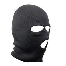 Black Balaclava SAS Style 3 Hole Mask Neck Warmer Paintball Fishing Ski Hat Bike