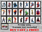 Marvel Avengers DC Superhero's Children's Bedroom Wall Poster Print  A5 A4 A3