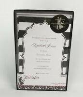 His & Hers Studio Bridal Shower Invitations 25 Count Black White Striped New