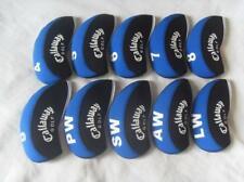 10Pcs Golf Iron Headcovers for Callaway Club Covers Blue&Black 4-Lw Universal Rh