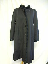 "Ladies Coat - The Royale Collection by Dannimac, Bust 34"" Black/Black Fur, 2494"