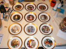 Stunning! Vintage 1975 Hans Christian Anderson set lot (12) plates in perf cond