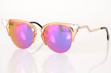 Fendi Iridia FF0041/S orange crystal cat eye polarized frame sunglasses NEW $520