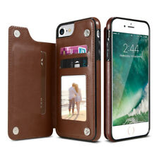 Retro PU Leather Case Card Holders For iPhone X 5 5s 6 6s 7 8 Plus XS SE