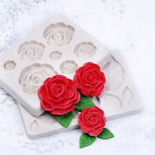 3d rose flower silicone fondant chocolate mould cake decor sugarcraft mold  Oj