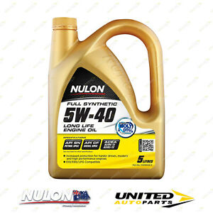 NULON Full Synthetic 5W-40 Long Life Engine Oil 5L for VOLVO C30 Engine 07-08