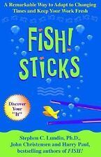 FISH! STICKS MAKE CHANGE STICK BY STEPHEN C. LUNDIN HARDBACK BOOK DUSTJACKET