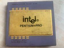 Intel Pentium Pro SL22Z KB80521EX200 512k Socket 8 CPU Processor Gold Recovery