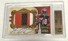 AJ Green 2011 Playoff National Treasures Rookie Patch Auto #29/49 BGS 9.5GemMint