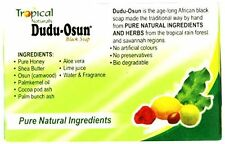 3 Pack Tropical Naturals Dudu-Osun Black Soap Pure Natural Ingredients 5 Oz. US