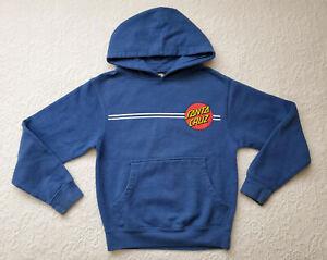Santa Cruz Skateboards Hoodie Sweatshirt Youth Small S Blue