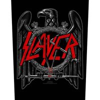 Printed Sew-on BACK PATCH 100% Official Licensed Merch SLAYER Black Eagle