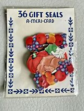 Vintage Halloween Autumn Seals, Package of 36 Thanksgiving, A-Meri-Card, Nos