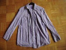 @Tchibo@ blusa manga larga púrpura blanco de cuadros Size XL GR.42 GB 16 EEUU