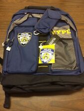 NYPD Bag backpack 20 x 14 x 8 Full sized 5 Pocket Backpack with Key Clip NWT