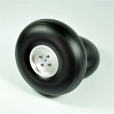 "1Pair RC Airplane 5""/127mm  CNC/Dia-Casting  Aluminum Hub PU Wheels  FM"