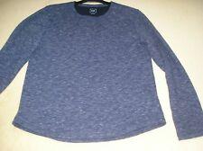 "GAP blue marl cotton stretchy top L 48-50"" 89-94cm long sleeved jumper"
