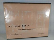 Very Rare - Manly P. Hall - The Isiac Tablet on the Bembine Table of Isis Ltd DJ