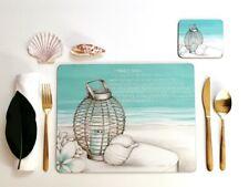 Placemat and Coaster Set, Lisa Pollock, Beach Lantern