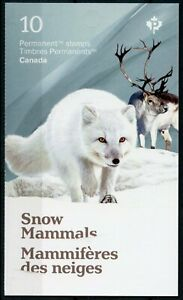 Canada 2021 MNH Wild Animals Stamps Snow Mammals Foxes Hares Ermine 10v S/A