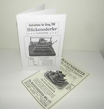 Blickensderfer 7 Typewriter Instruction Manual with Bonus Advertisement