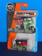 Matchbox 2017 MBX Adventure City Series #6 Tuk-Tuk Green & Black
