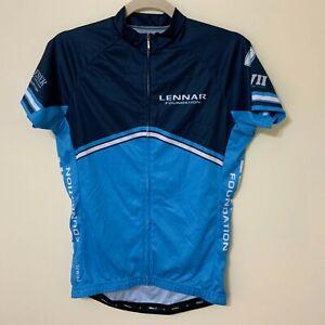 PRIMAL LENNAR FOUNDATION Women Cycling Jersey Blue Size Medium EUC