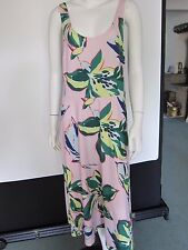 Ladies Size 10 Marks & Spencer Limited Edition Pink Floral Print Midi Dress/Top