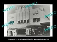 OLD LARGE HISTORIC PHOTO OF KATOOMBA NSW, VIEW OF THE EMBASSY THEATRE c1940
