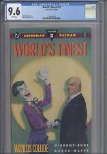 Worlds Finest #2 CGC 9.6 1990 DC Comics Dan Gibbons Story: New Frame