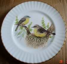 Royal Vale Large Collectors Plate Showing A Pair Of Birds