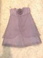 Forever 21 F21 Purple Strapless Dress (Size 4)