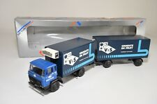 X LION CAR DAF 2500 TRUCK WITH TRAILER V&S GROENTE EN FRUIT NEAR MINT BOXED