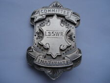 RARE 1912 LONDON & SOUTH WESTERN RAILWAY COMMMTTEE INSTITUTE SILVER PIN BROOCH