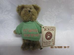 "Vtg NWT Boyd's Bears ""FRIENDS FOREVER"" Mini Message Bear, 4"", Ex!"
