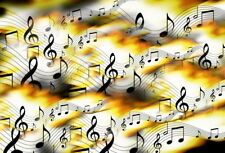 5x3FT Music Melody Background Studio Photography Photo Props Backdrop