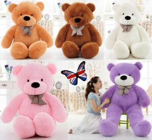 UK Giant Huge Big Teddy Bear Stuffed Animals Plush Toys Gift Soft Sweaters New