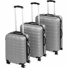 ABS Reisekoffer 3er Set Trolley Kofferset Hartschalenkoffer Hartschale silber