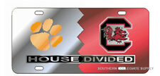 CLEMSON Tigers / USC Gamecocks HOUSE DIVIDED License Plate / Tag