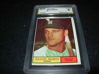 1961 Topps baseball #2 Roger Maris New York Yankees graded ex-nm 6