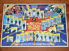 1984 GI JOE / ACTION FORCE - FOLDOUT POSTER 'THE ENEMY VS ACTION FORCE' PALITOY