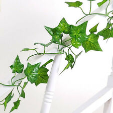 Green Plant Garland Ivy Foliage Decor Home Party Wedding Plastic Leaf Decor 2.1m