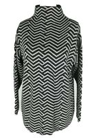 Bartolini Italy Grey Knit High Neck Jumper Plus Size L 16 18