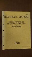 JVC ax-z911bk technical service manual original stereo integrated amplifier amp