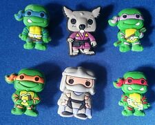 6 PC TEENAGE MUTANT NINJA TURTLES JIBBITZ SHOE CHARMS CAKE TOPPERS PARTY FAVORS
