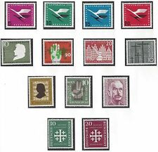 GERMANY 1955 61 COLLECTION OF 139 MINT NEVER HINGED COMPLETE SETS INCLUDES HEUSS