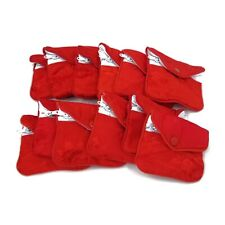 """12 Red Silk Chinese Jewelry Purse Pouches with Zipper Gift Bag Pouch 3"""" x 2.5"""""""