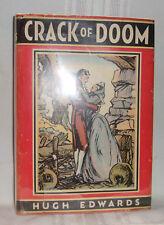 Hugh Edwards CRACK OF DOOM First edition 1934 HC in DJ Jamaica Slaves Army Novel